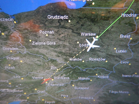 経由地ウィーンへ、あとわずか