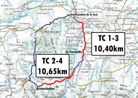Tc1-3 Alcaudete - La Fresneda   ///  Tc2-4 Gévalo - Buenasbodas