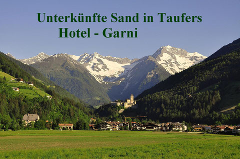Tourismusverband Tauferer Ahrntal - Sand in Taufers  Tel: +39 0474 67 80 76  info@taufers.com
