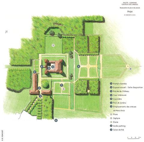Cliquez sur l'image pour agrandir le plan du château et du parc