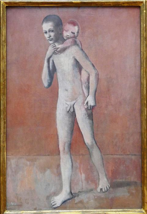 P. Picasso : les  deux frères, 1906