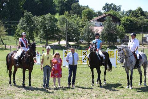 Springen ASVÖ LM Kl. A R1 Eichberger Alexandra auf Cordano Foto: Brunnmayr