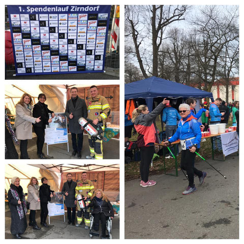 Frauen-Union Kreisverband Fürth-Land  internationalen Kinderkrebstag aktiv mit beim  1. Spendenlauf Zirndorf