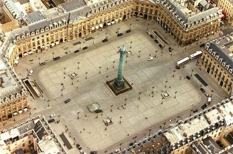 Площадь Вандом. Париж.