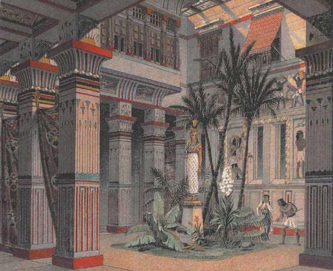 Внутренний двор жилого дома богатого Египтянина