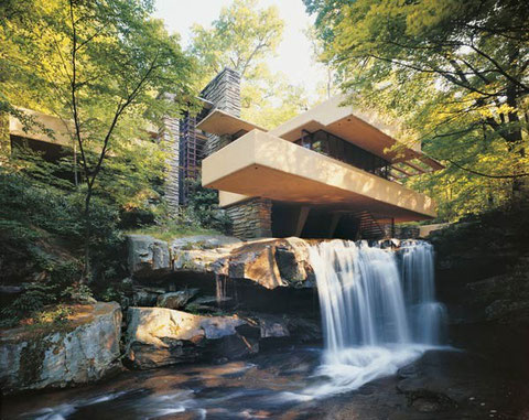 Райт, дом у водопада