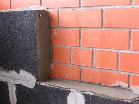Утепление стены пеностеклом