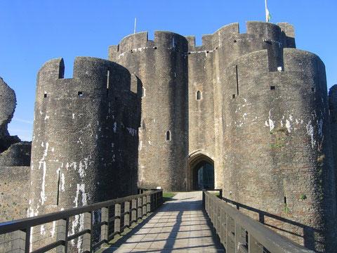 Замок Карфилли. Великобритания.