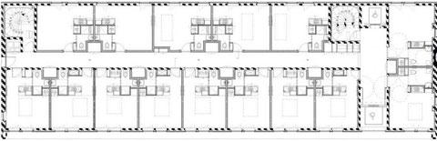 План этажа жилого дома в г. Нант (Франция)