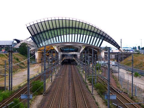 Железнодорожная станция TGV в аэропорту Лиона