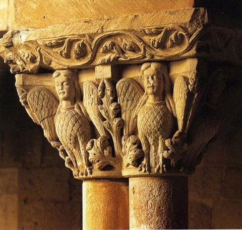 Романские капители собора монастыря Сан-Доминго в Силосе, Бургос. Конец XI-го века