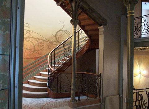 Отель Тассель. Лестница.