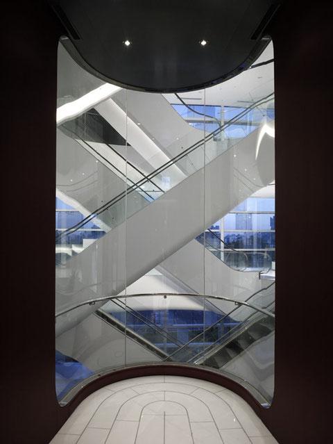 Вид из кабины лифта