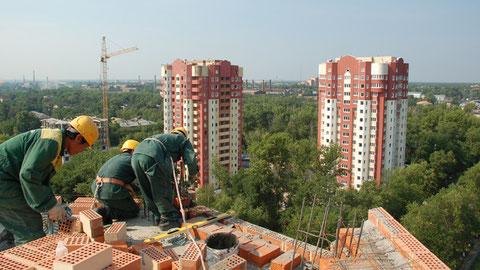 Электросталь. Строительство жилых домов по Рабочему проезду.