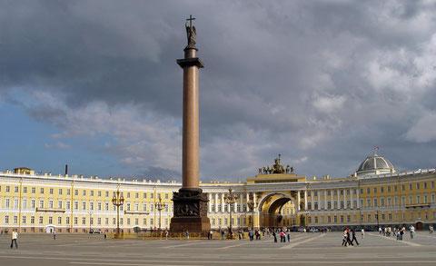 Дворцовая площадь в Петербурге.