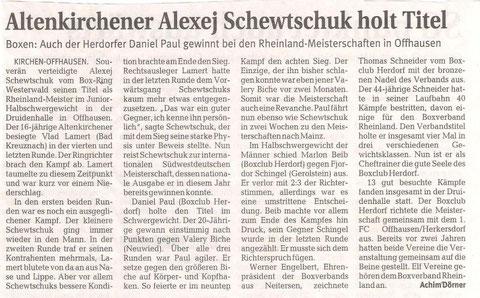 Rhein Zeitung 22.09.2009
