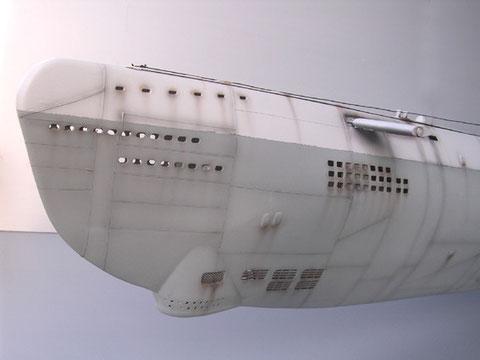 Die XXI Boote verfügten vorne über einen Sonarbug