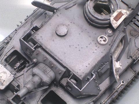 Der Vorpanzer an der Turmstirnseite erhöhte den Schutz um nochmal 30mm