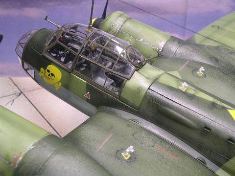 Die große Glaskanzel, hier wird die Arbeit am Cockpit sichtbar
