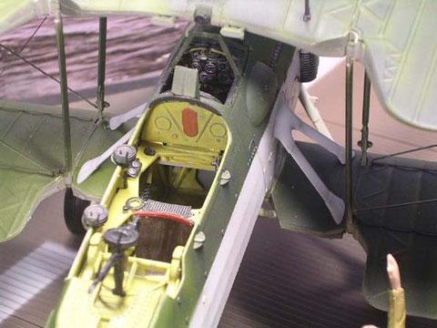 Freier Blick ins offene Cockpit!