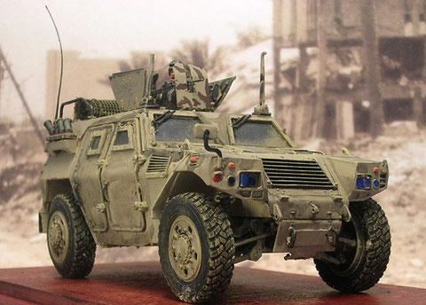 Für das japanische Kontigent im Irak wurden die fahrzeuge selbstverständlich auf Sandton umgespritzt.