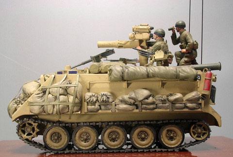 In diesem Fall sind die seitlichen Packmöglicheiten mit einer einfachen Sandsackpanzerung gegen nahbereichswaffen gefüllt.