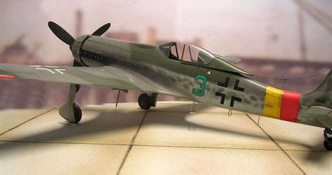 """Die grüne """"3"""" von Josef Keil, der den Krieg mit 16 Luftsiegen, darunter mehrere 4-mot-Bomber abschloss (und überlebte!)."""