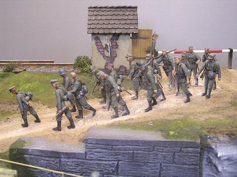 Begleitinfanterie zum Geschützschutz