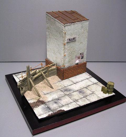 Die Diobase zeigt einen angedeuteten Teil einer Werksanlage und ist von Sven Engberding..