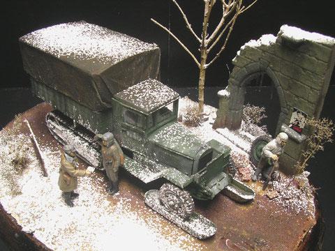 Kleines und kompaktes Diorama, hier reichen für den Winter ein paar karge Äste