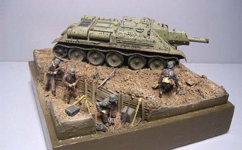 Der kleine graben zeigt die ganze Palette des deutschen Infanteristen.