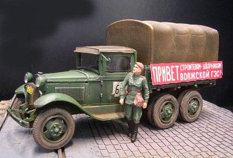 Dazu passend der ZIS-3 LKW AAA, steht für 3-Achsen und Doppelbereifung