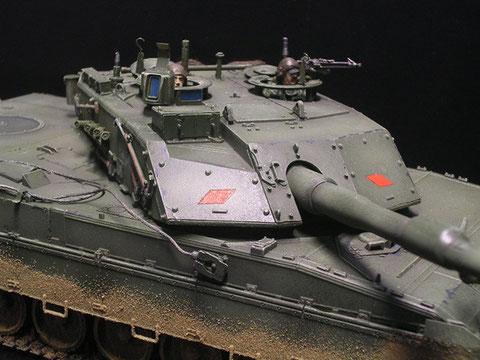 Das Modell ist von Trumpeter, ausgestattet mit Ätzteilen und einer italienischen Panzerbesatzung von Legend.