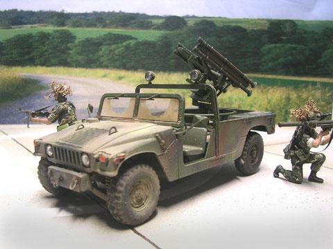 NATO-3-Ton-Tarnung, leicht verschmutzt
