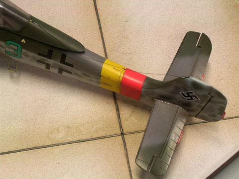 Für die neuen Flugeigenschaften wurde die TA-152 mit einem weiteren Rumpfsegment und geänderten Höhenrudern ausgestattet.
