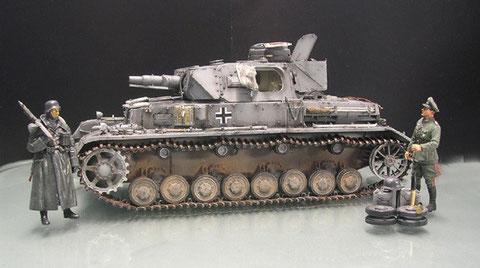 PzKw IV Ausf. D mit Vorpanzer - www.panzer-bau.de/diorama/militär/1:35