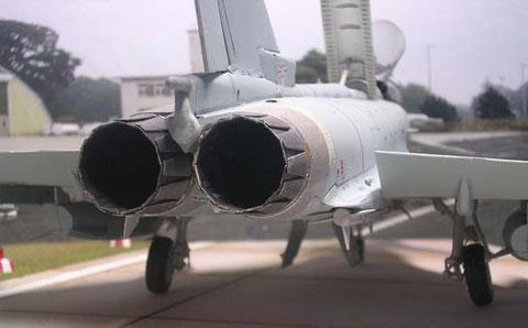 Zwei EJ200 Triebwerke von MTU Aero Engines.