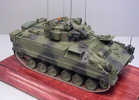 Im European Camouflage Design der britischen Rheinarmee.