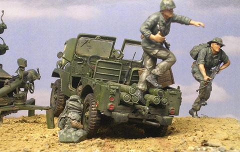 Infanteristen stürmen vor
