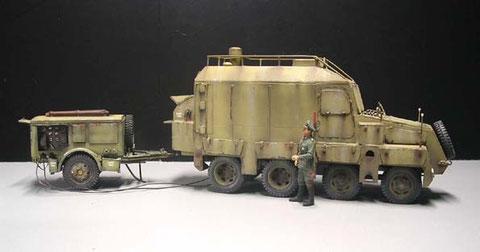 Farbgestaltung Messkraftwagen mit Generatoranhänger ab 1942 in sandgelb