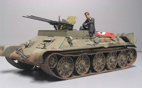 Auch hier die leichte Erhöung der Frontwanne durch Panzerplatten, um der Besatzung einen gewissen Schutz bei Erdkämpfen zu gewährleisten.