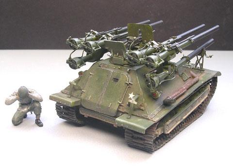 Der komplizierte Aufbau der sechs rückstossfreien Geschütze