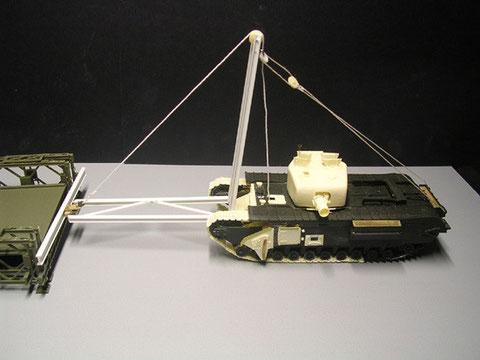 Der Legend-Resinturm mit dem 152mm Wurfmörser