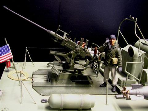 Die 40mm Flak ist ein Modell im Modell
