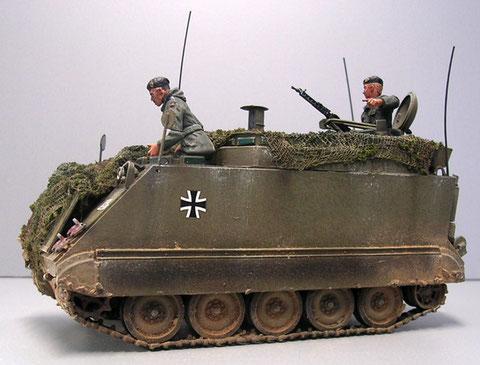 Besatzungsfiguren der frühen Bundeswehr aus Metall von Peddinghaus.