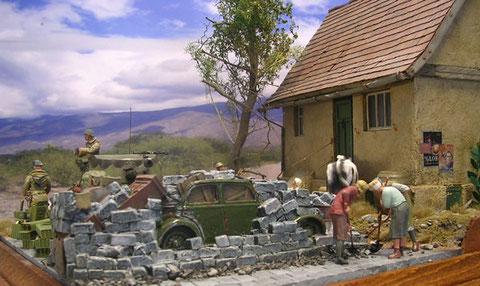 Jetzt macht es sich bezahlt, das das Bauernhaus auf einer kleinen Anhöhe steht.
