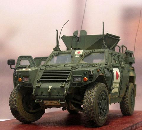 In der Version für das Heimatland erscheinen die Fahrzeuge in Oliv über alles.