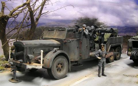 Vomag 6-Tonner als Komandogeräte-Fahrzeug.