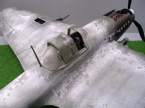 Bei der einsitzigen Version ist der hintere Cockpitteil geschlossen.