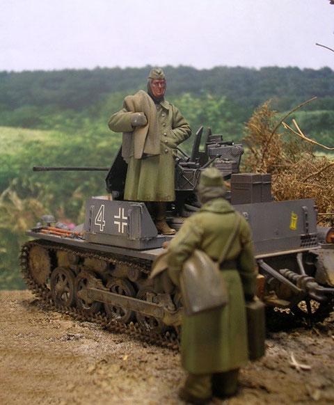 Die leichte Panzerumbauung bot der Bedienung im Erdeinsatz nur geringen Schutz,